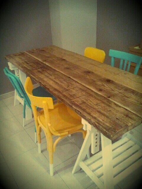 tavolo assi di legno
