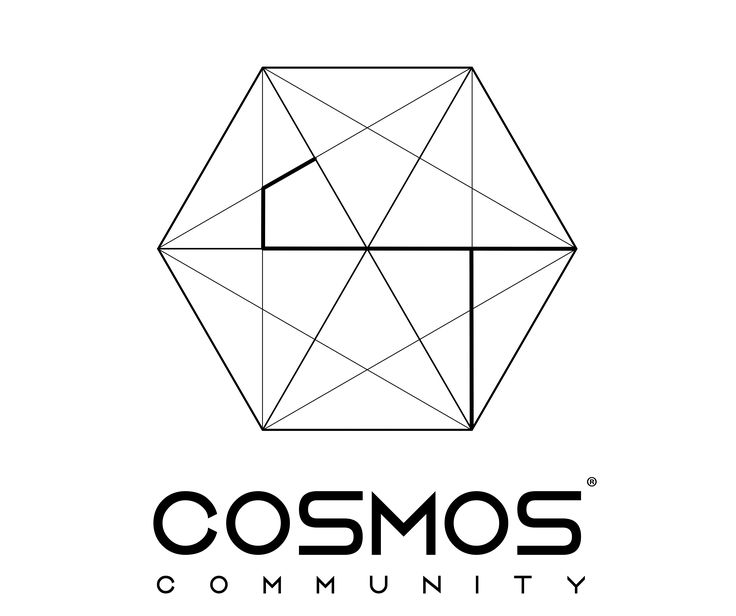 Logo, Brand, Graphic Design, Cosmos Community DK