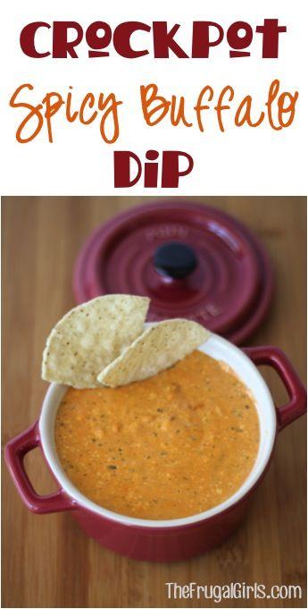 Crockpot Spicy Buffalo Dip Recipe from http://TheFrugalGirls.com
