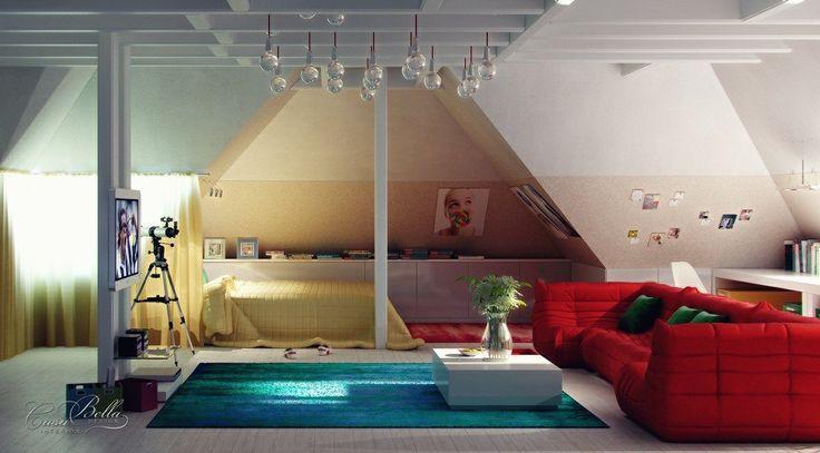 Tyto střechy byly transformovány do krásné ložnice! Co dát nápady ...