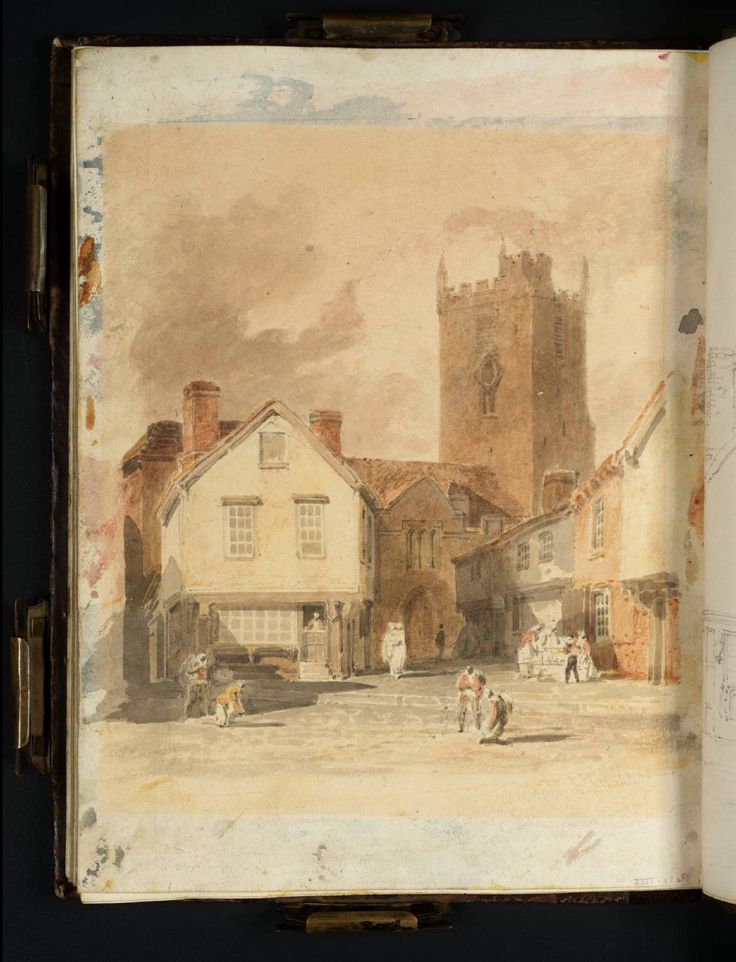 Joseph Mallord William Turner - Newport, Isle of Wight: The Church and Market Place, 1800