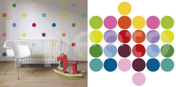 Klasické puntíky druhé generace - kolekce 2013 - Lepeeto - samolepky na zeď, nálepky na zeď, bordury, tapety, nálepky na okno, nalepovací metry, tabule, obrazy, samolepící dekorace