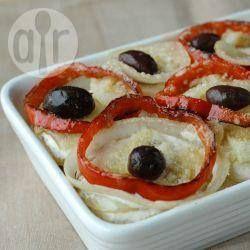 Bacalhau com batata ao forno @ allrecipes.com.br - Eu faço essa bacalhoada pra galera lá de casa e é sempre o maior sucesso.