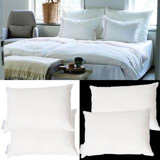 Stora och lyxiga hotellkuddar 70 x 100 cm från @hoieofscandinavia. Du väljer mellan dun och fiber. 2 st Dunkuddar för 1099:- ord 1248:-, 2 st Fiberkuddar 599:- ord. 700:- Rabatt på örngott satin vid köp av hotellkuddar www.globalxdesign.com  #kuddar #hotellkuddar #dunkuddar #sovrum