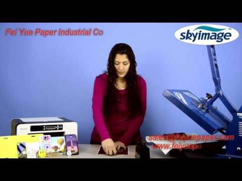 how to use A4 sublimation paper for sublimation blanks - YouTube