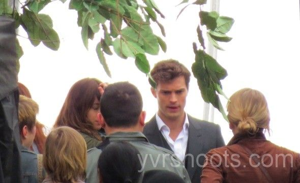 SHOOT: FIFTY SHADES OF GREY Films Jamie Dornan & Dakota Johnson in Gassy Jack Square | yvrshoots
