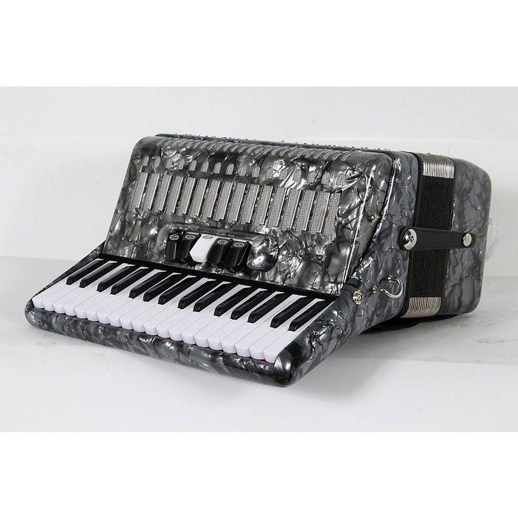 SofiaMari SM 3472 34 Piano 72 Bass Button Accordion Pearl Gray 888366004388