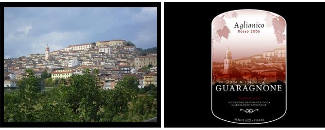 Etiqueta para Famiglia Guaragnone, vinos de Italia