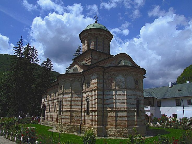 Cozia Monastery, another take on the 'Brancovnesc' style architecture, very close in look to traditional Romanian architecture