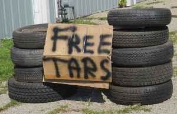 These here tars are free...I think they're at the end of my road actually.  The sign looks familiar...