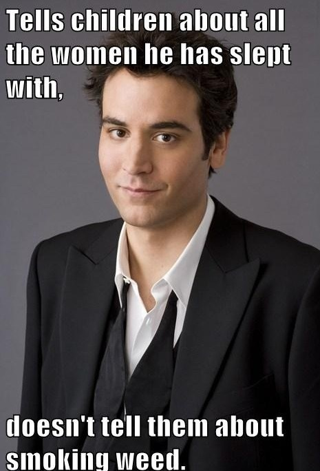 "Ted Mosby logic. HIMYM So true haha...""Kids I had a really big"
