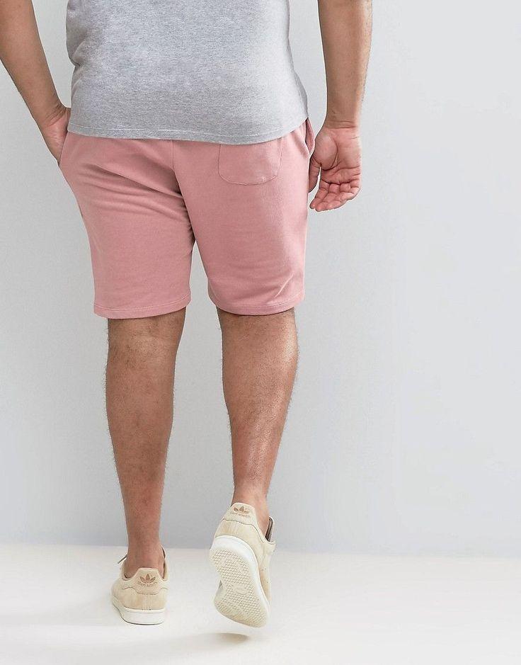 ASOS PLUS Jersey Skinny Shorts In Pink - Pink