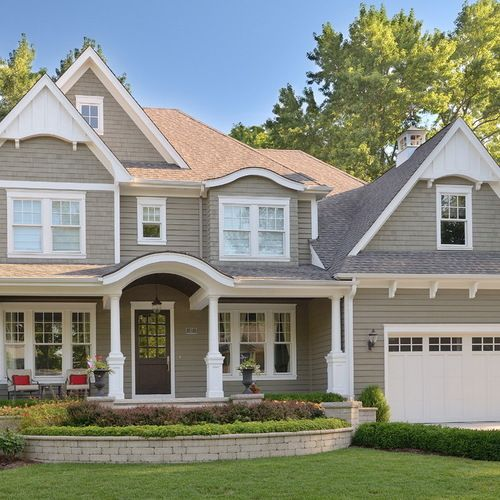 Brown and Gray Exterior Design Ideas, Remodels & Photos