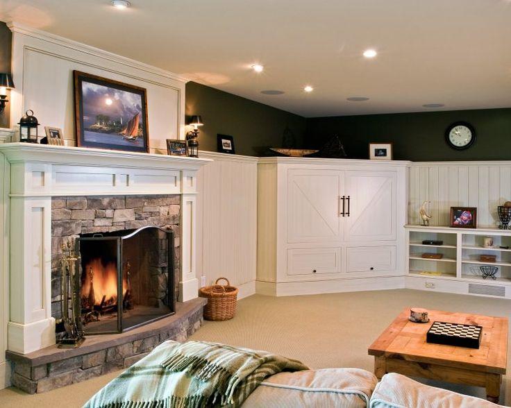 Basement-level recreation room