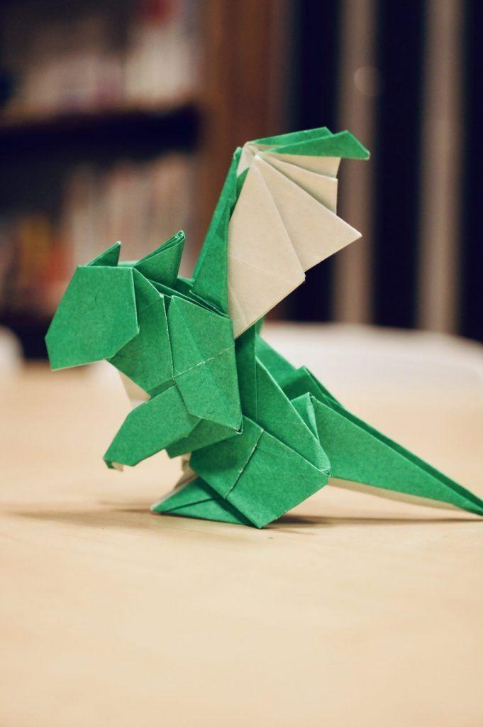 ベビードラゴン おりがみ 折り紙 ドラゴン 折り紙