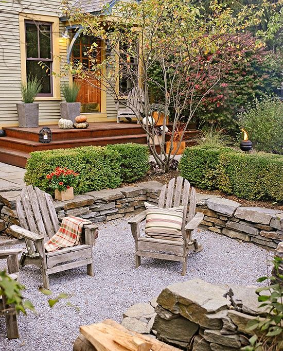 Stone Patio Ideas Backyard 294 best images about stone patio ideas on pinterest fire pits bluestone patio and stone patios Pea Gravel Patio