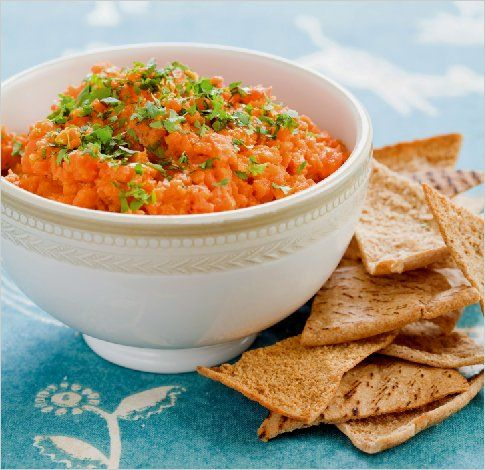 Moroccan Carrot Dip by Martha Rose Shulman | Photo: Andrew Scrivani for The New York Times
