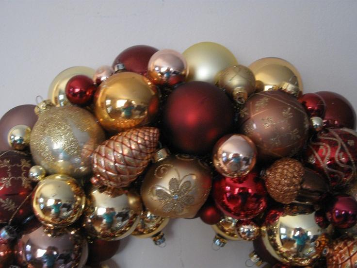 169 best Vintage Ornament Wreaths images on Pinterest | Vintage ...