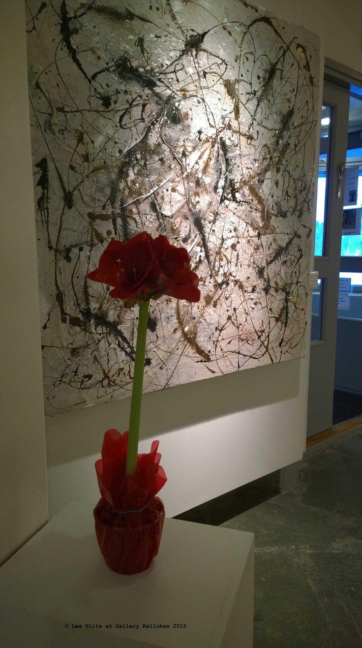 """Périphérigue-set: """"Naavaa / Moss"""", mixed media on canvas (4 x 122 x 130 cm)"""