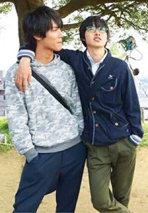 "Kento Yamazaki x Taishi Nakagawa, , J LA movie "" Shigatsu wa kimi no uso (your lie in April)"". Release: Sep/10/2016"