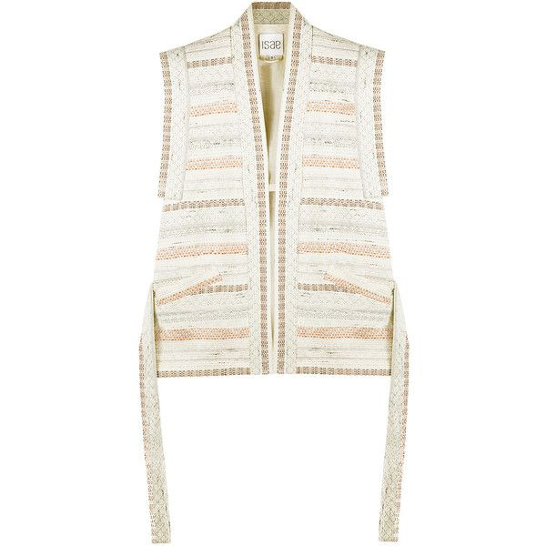 Womens Casual Jackets ISAE STUDIO Lena Tri-tone Jacquard Kimono Jacket (£375) ❤ liked on Polyvore featuring outerwear, jackets, white kimono, jacquard jacket, white kimono jacket, white jacket and kimono jacket