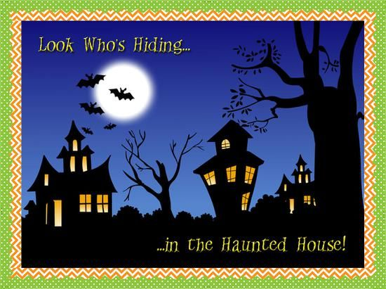 Look Who's Hiding in the Haunted House! - October Bulletin Board Idea