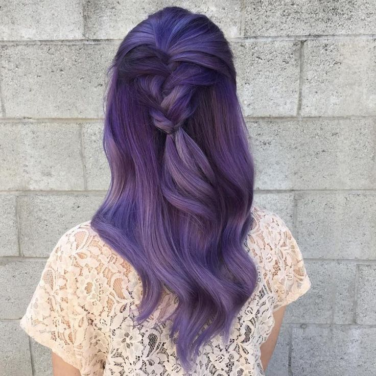 Purple Balayage For Brunettes