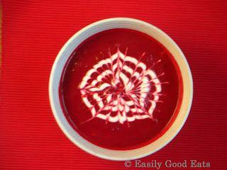 Easily Good Eats: Roasted Beetroot Garlic Soup (Not Quite Borscht) Recipe