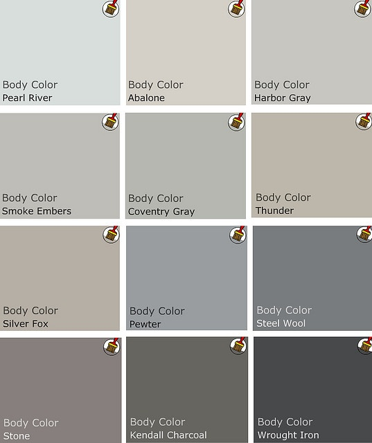Great paint color choices for different hues by a Benjamin Moore pro (white, grey, etc.)