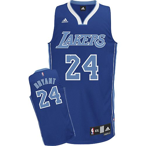 Los Angeles Lakers Kobe Bryant 24 Blue Authentic Jersey Sale