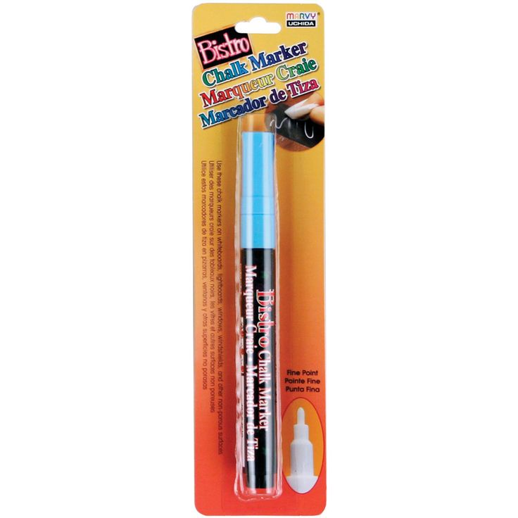 Bistro Chalk Marker Fine Point - Fluorescent Light Blue