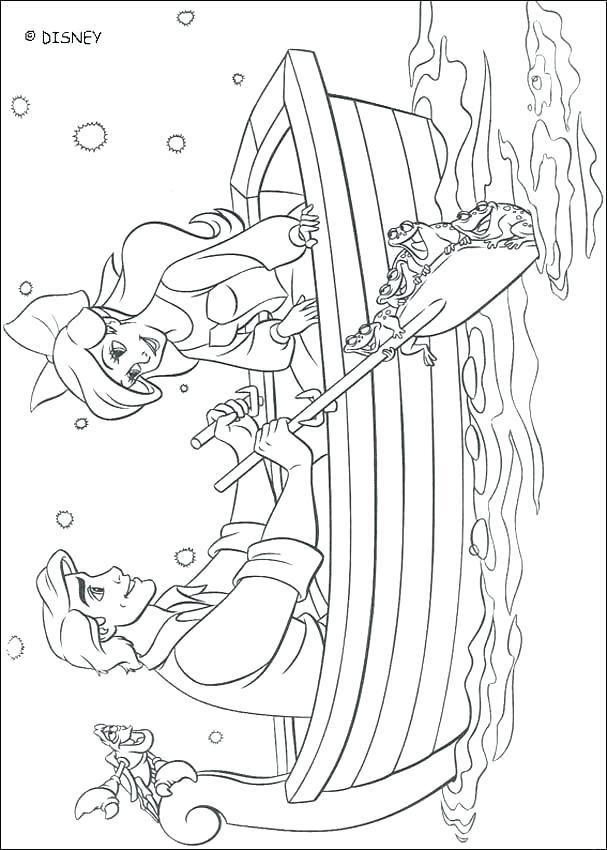 Coloriage Ariel Et Eric.Ariel And Eric Coloring Pages And Prince Coloring Pages Ariel And