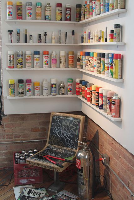 Spray cans, neat idea for my hubby