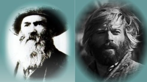 Jeremiah Johnson … made his way into the mountains. - The real Jeremiah Johnson and actor Robert Redford. - The Ballad of Jeremiah Johnson – Tim McIntire http://myfavoritewesterns.com/tag/jeremiah-johnson/