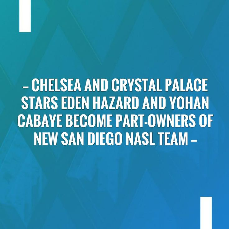 Just posted! Chelsea and Crystal Palace stars Eden Hazard and Yohan Cabaye become part-owners of new San Diego NASL team http://sportstribunal.com/football/talks/chelsea-and-crystal-palace-stars-eden-hazard-and-yohan-cabaye-become-part-owners-of-new-san-diego-nasl-team/?utm_campaign=crowdfire&utm_content=crowdfire&utm_medium=social&utm_source=pinterest
