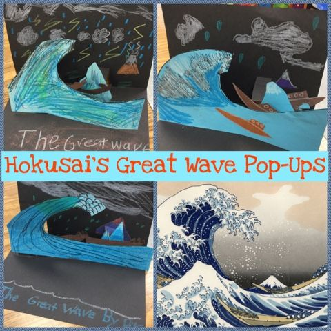 Hokusai's Great Wave pops up! 2nd grade (Mrs. Knight's Smartest Artists)