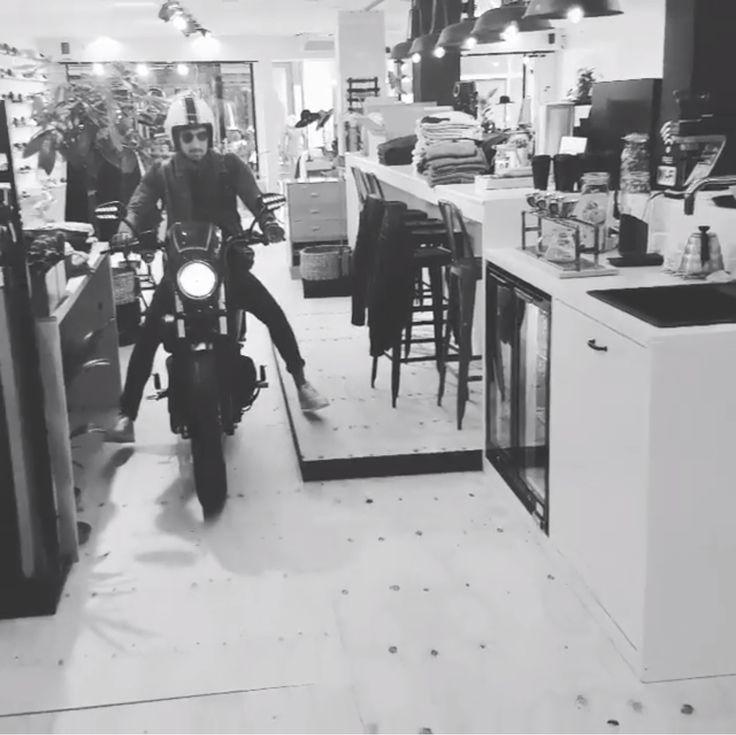 #klof_enschede Yes daar is ie! Harley Davidson XL883 Iron! Nu te zien bij ons in de winkel. @harleyandbikes . . #harleydavidson #xl883iron #matzwart #Motor #Klof #Enschede #Eanske #Haverstraatpassage