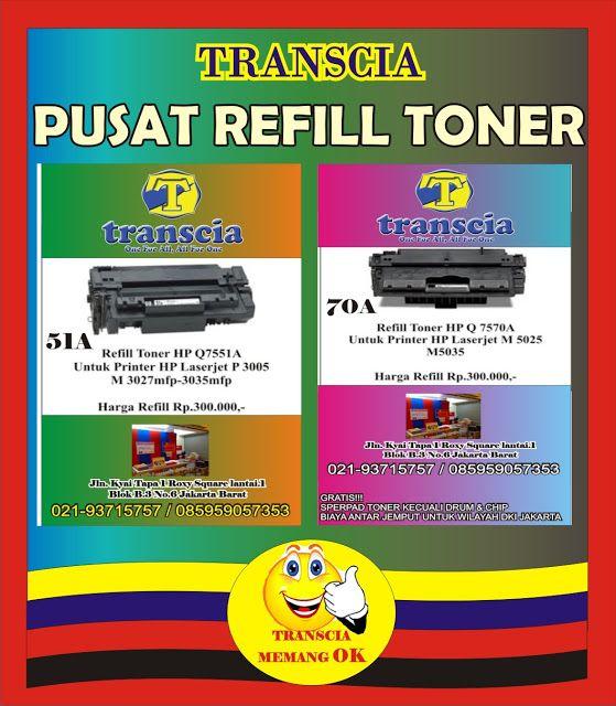 refill tinta & toner printer inkjet laserjet Canon,Hp,Epson,Brather,Samsung,Panasonik,Xerox: PUSAT REFILL TONER MURAH JAKARTA