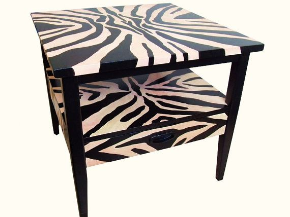 1000 images about zebra print furniture on pinterest for Css table zebra design