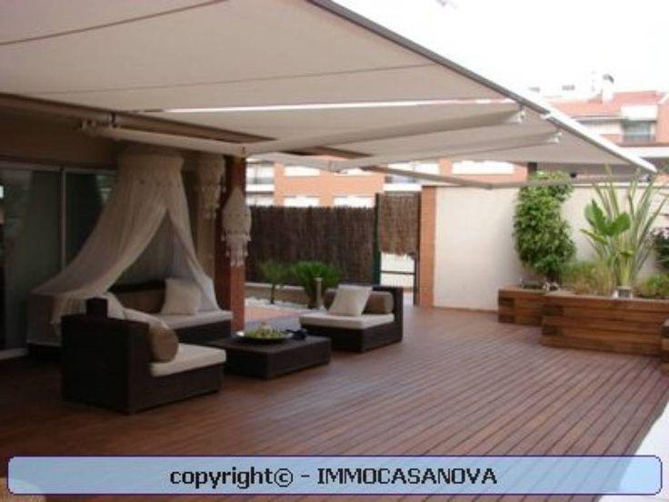 32 best decoracion terraza images on pinterest outdoor - Pergola terraza atico ...