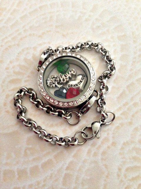 Memory locket stainless steel Bracelet for by PrettyLittleLockets