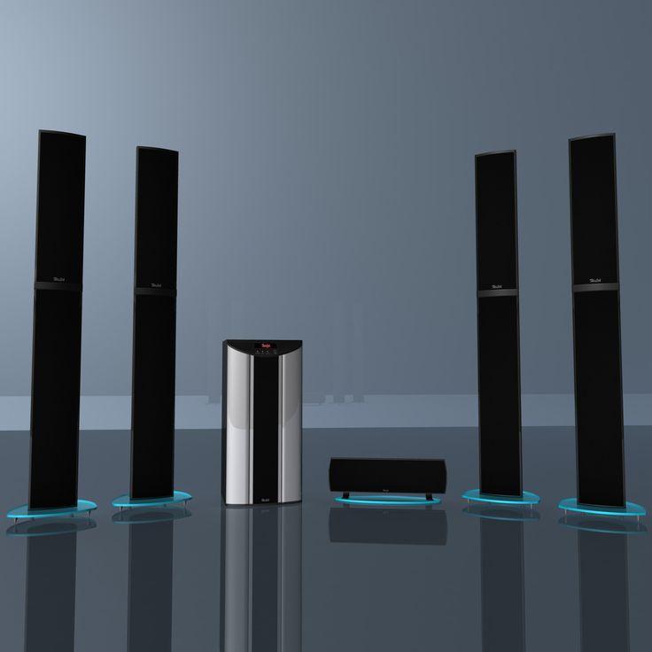 3D Model Of Teufel 5 1 Soundsystem - 3D Model