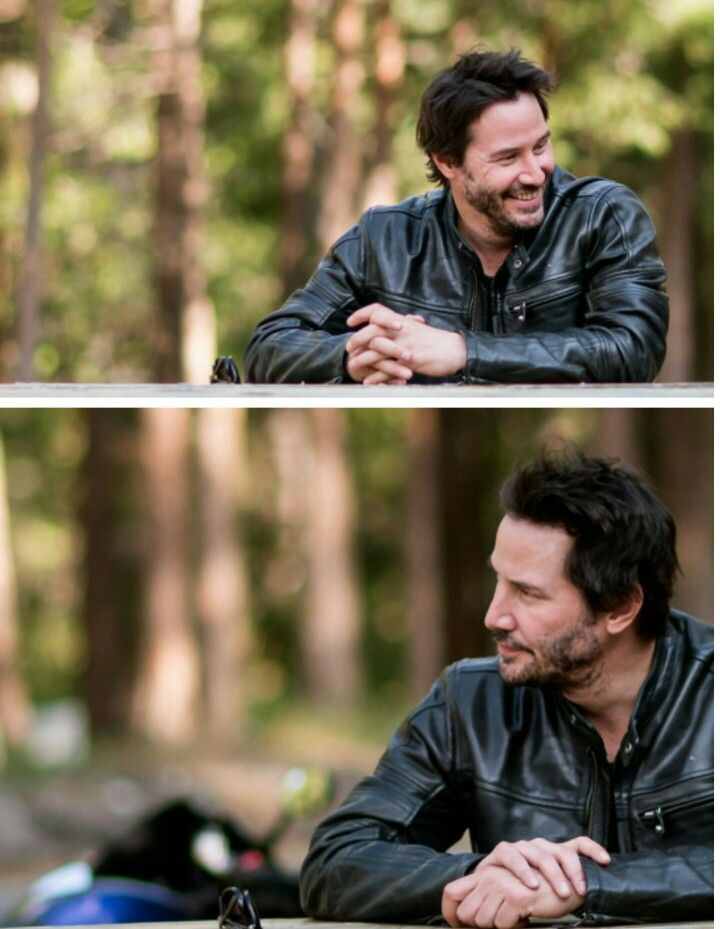 Happy Keanu ♡♥ Reeves  talkin' motorcycles, sweet lines, and speed. (chicfoo) keanu