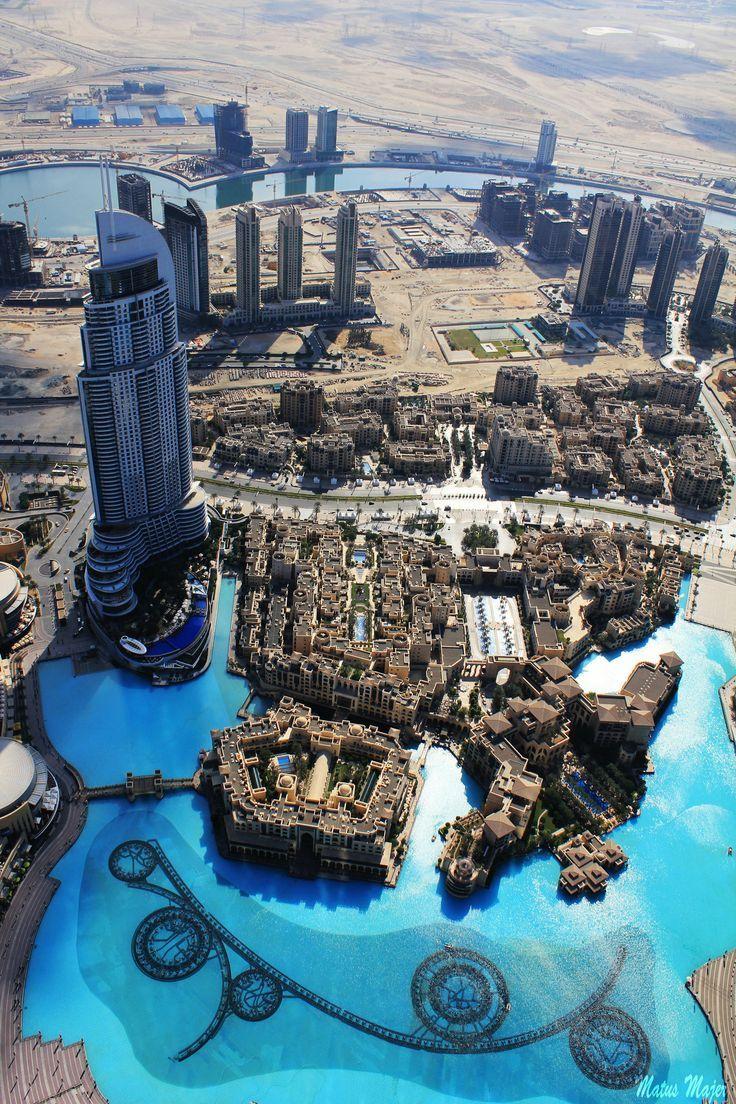 Dubai view from Burj Khalifa Dubai