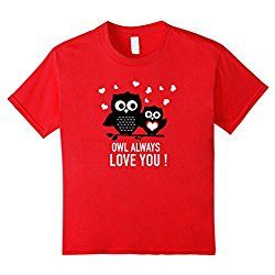 Kids Cute Valentines Day T Shirts for Boys and Girls 8 Red