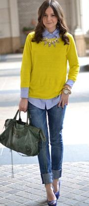 34 best Yellow Jumper Outfits images on Pinterest   Jumper outfit ...