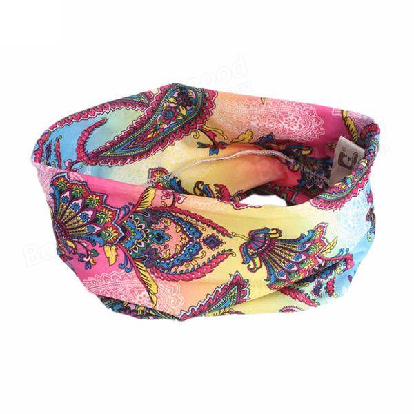 Bohemia Yoga Elastic Seamless Headband at Banggood