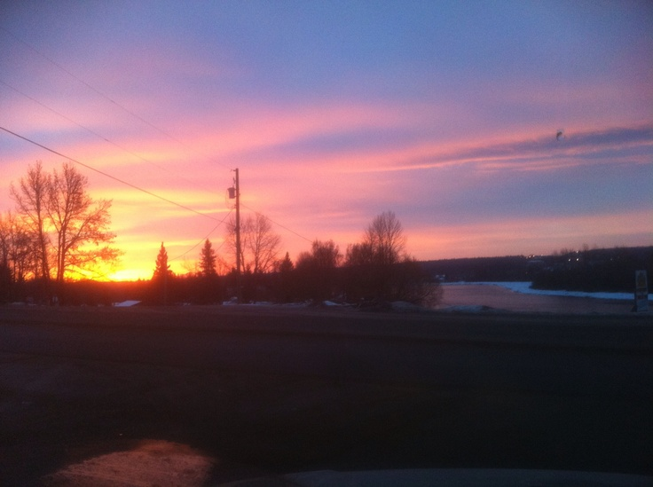 Sunset over the River in Vanderhoof b.c.