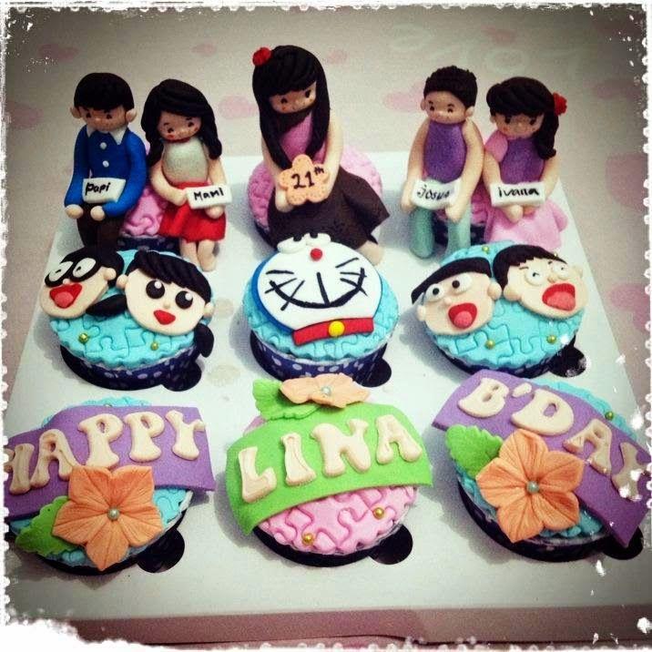Cupcake Bertemakan Birthday dan Dihiasi Boneka Siap Santap silahkan buat yg mau order bisa melalui bbm 7CEB E5FF