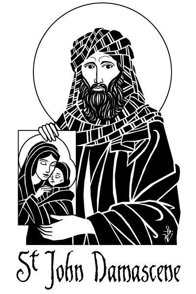 Saint John of Damascus. #catholic #christian #art #saints #john #damascus #damascene